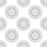 Lotus Seamless monocromatica Fotografia Stock Libera da Diritti