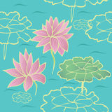 Lotus seamless texture Royalty Free Stock Photos