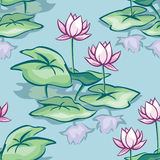 Lotus seamless Stock Images
