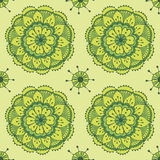 Lotus. Seamless vector pattern in traditional indian style Royalty Free Stock Images