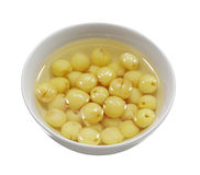 Lotus Seed Soup. Bowl of Sweet lotus seeds soup isolated on white background Stock Photography