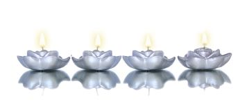 Lotus shade candles Stock Image