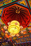 Lotus-shaped Chinese Chandelier. Chandelier at Boromracha Kanchanapisek Anusorn Temple Stock Photography