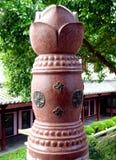 Lotus shaped pillar Stock Photos