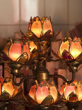 Lotus shaped temple lamps royalty free stock photos