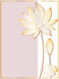 Lotus Side Card royaltyfri illustrationer