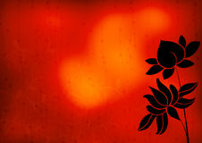 Lotus silhouette. In colorful abstract background Royalty Free Stock Photos
