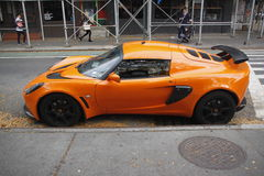 Lotus sports car parked on new york city street Royalty Free Stock Photo