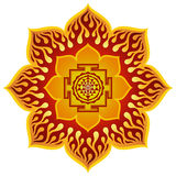 Lotus Sri Yantra Design Royaltyfria Foton