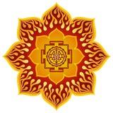 Lotus Sri Yantra Design Fotografie Stock Libere da Diritti