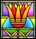 Lotus in stained glass Royalty Free Stock Photos