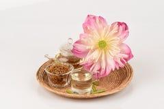 Lotus stamen tea. Stock Photo