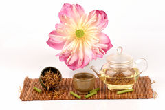 Lotus stamen tea. Lotus stamen tea, from natural and medicinal properties royalty free stock photos