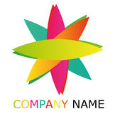 Lotus Star Colors Logo. For any business tupe Stock Photography