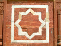 Lotus star dehli. A lotus star in humayun's tomb, dehli, india Royalty Free Stock Photography