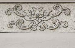 Lotus stone carving Royalty Free Stock Photos