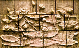 Lotus Stucco wall Royalty Free Stock Photo