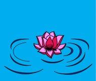 Lotus sur le vecteur de courant Image stock