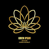 Lotus Symbol dourada Foto de Stock