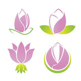 Lotus Symbol Logo Collection Set Lizenzfreies Stockbild