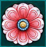 Lotus talló la decoración de la pared de piedra Imagen de archivo libre de regalías