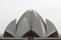 Lotus Temple Royaltyfria Foton