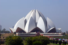 Lotus Temple. The lotus temple in India royalty free stock photography