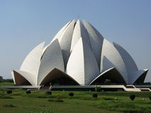 Lotus temple. Baha'i Lotus Temple in Delhi, India stock images