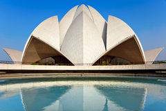 Lotus temple. Bahai House of Worship, Lotus Temple, New Delhi, India royalty free stock images
