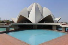 Lotus Temple. In New Delhi in India Stock Photos