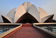 Lotus Temple (4), Delhi, India. The Bahai Temple is a Delhi landmark with its Lotus flower structure. The striking architecture and the reflecting pools and Royalty Free Stock Images