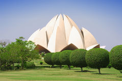 Lotus Temple. In New Delhi, India stock image
