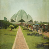 Lotus Temple royaltyfri fotografi