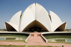 Lotus Temple. In New Delhi, India stock images