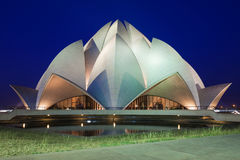Lotus Temple stockbilder