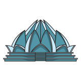 Lotus temple architecture Stock Images