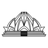 Lotus temple architecture Royalty Free Stock Photos
