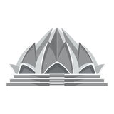Lotus temple architecture Royalty Free Stock Image