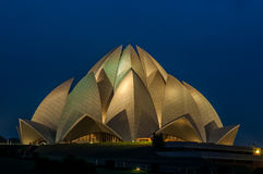 Lotus Temple. Bahai temple in Delhi, India Stock Image