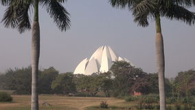 Lotus temple Bahai house, New Delhi, India. Lotus temple Bahai house in New Delhi, India stock footage