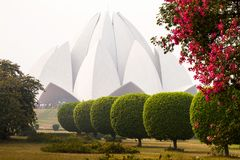 Lotus Temple, Bahai House of Worship in Delhi royalty free stock photography