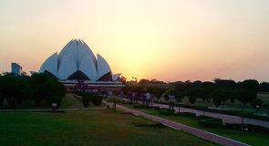 Lotus Temple of the Bahai's Stock Images