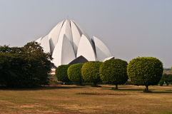 Lotus Temple in Delhi. Bahai religion. Lotus Temple in Delhi royalty free stock image