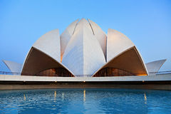 Lotus Temple, Delhi. Lotus Temple at the evening, New Delhi, India royalty free stock photos