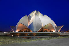 Lotus Temple, Delhi. Lotus Temple at the evening, New Delhi, India royalty free stock photography