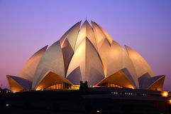 Lotus Temple. In Delhi,India royalty free stock photography