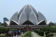 Lotus Temple of Delhi India Stock Photo