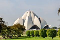 Lotus Temple Delhi India royalty free stock photo