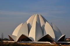 Lotus temple Delhi India stock image