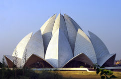 The Lotus Temple Delhi. The Lotus Temple in Delhi India was designed as the Baha'i by architect Fariborz Sabha. The lotus flower with its three layers of royalty free stock photos
